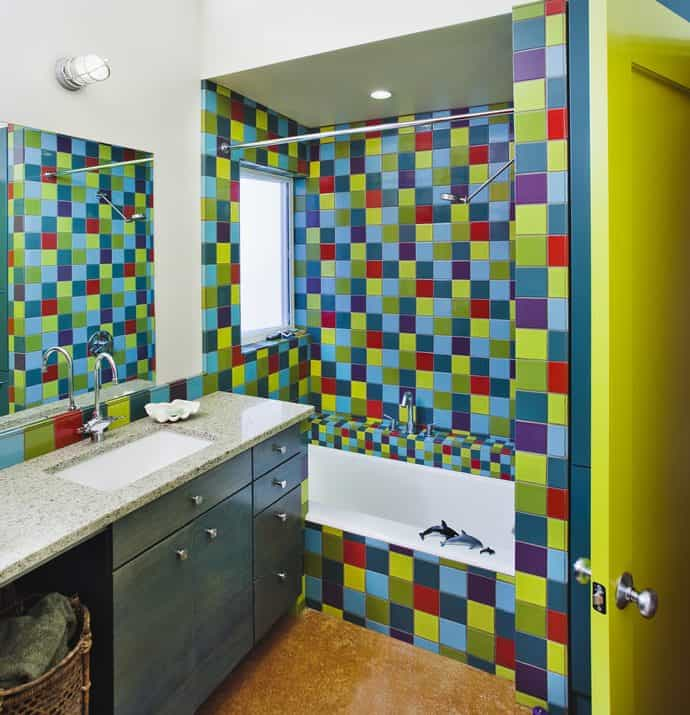 Amazing Kids Bathroom Tile Ideas