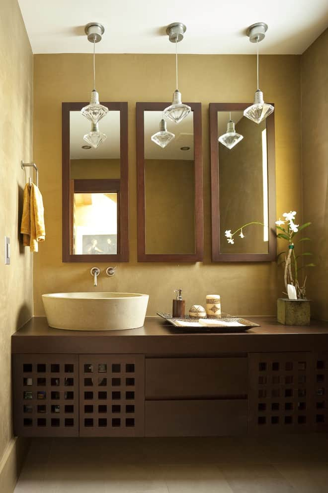 Multiple Mirrors. Source: Architectural Design Consultants & 25+ Beautiful Bathroom Mirror Ideas by Decor Snob