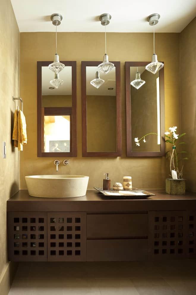 Multiple Mirrors for a Bathroom Idea