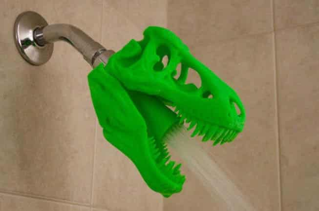 Bon 3D Printed T REX Skull Shower Head.