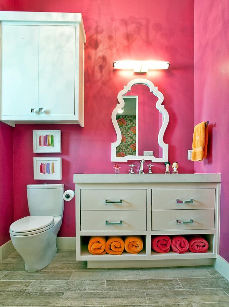funky girls bathroom