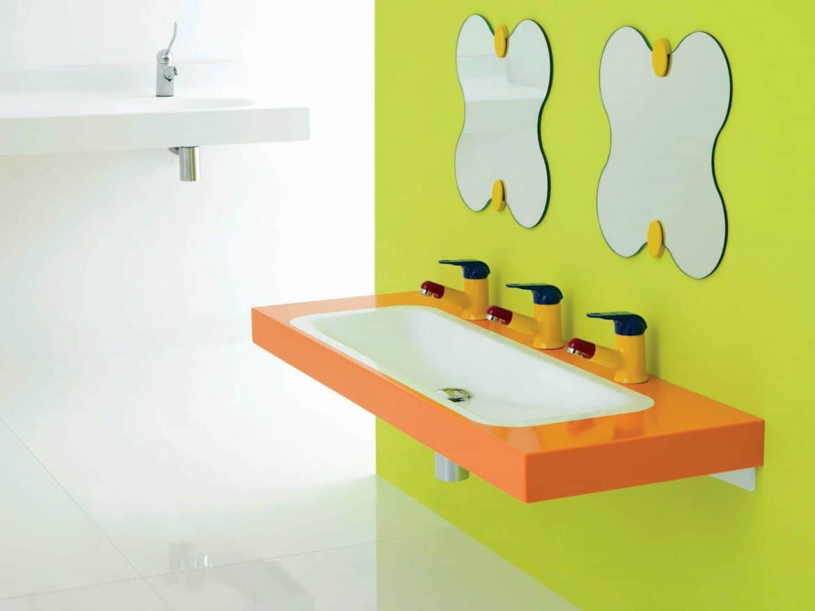 Floating bathroom sinks