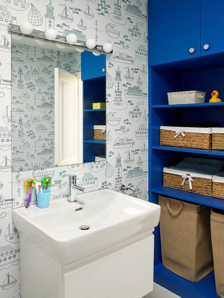 Will love to use this bathroom specially made for him alone nautical