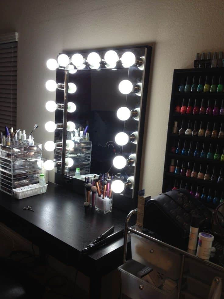 Ideas for making your own vanity mirror with lights diy or buy vanity mirror with lights aloadofball Gallery