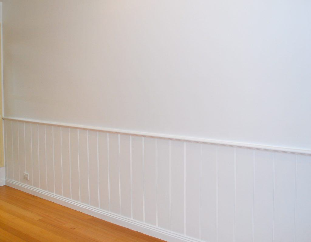 Wood Paneling to Wainscoting