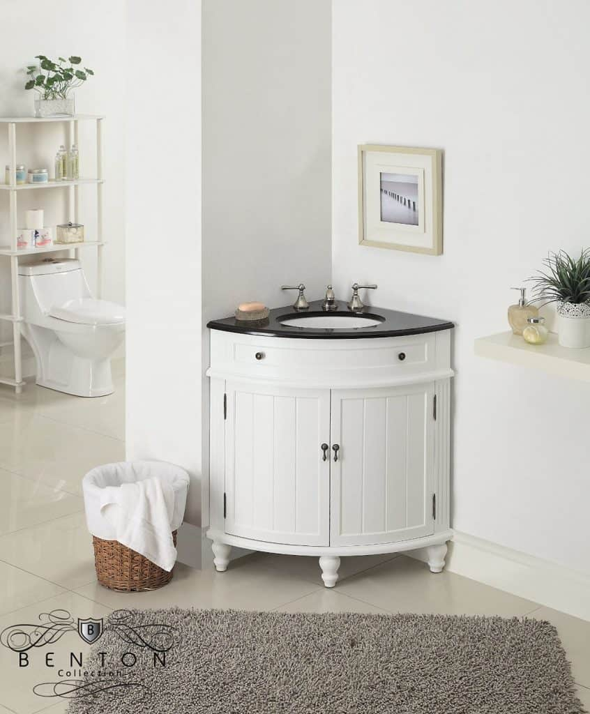 Bathroom vanity basin - 24 Thomasville Corner Sink Bathroom Vanity Model Cf 47533gt