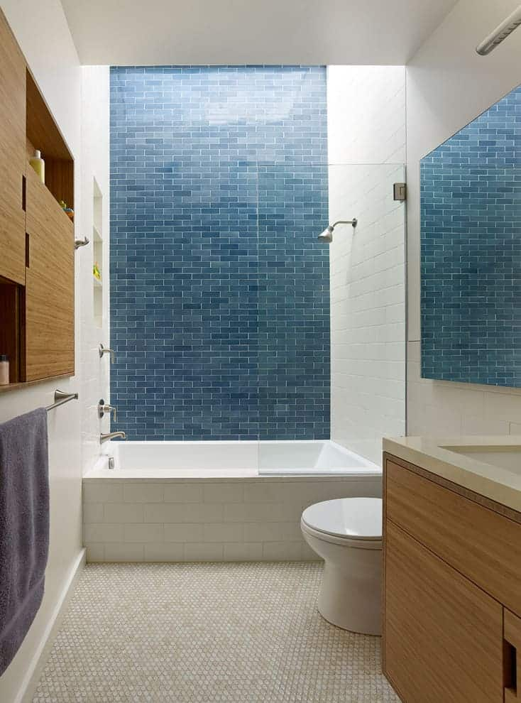 7 steps for a successful bathroom renovation decor snob for Blue tile bathroom ideas