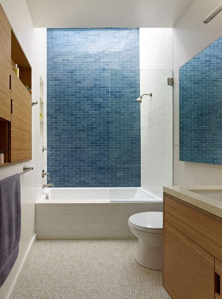 Bathroom - Blue Tile
