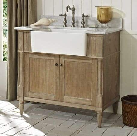 Fairmont Designs 142-FV36 Rustic Chic 36 Inch Farmhouse Vanity In Weathered Oak