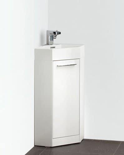 Fresca Coda 14 White Modern Corner Bathroom Vanity