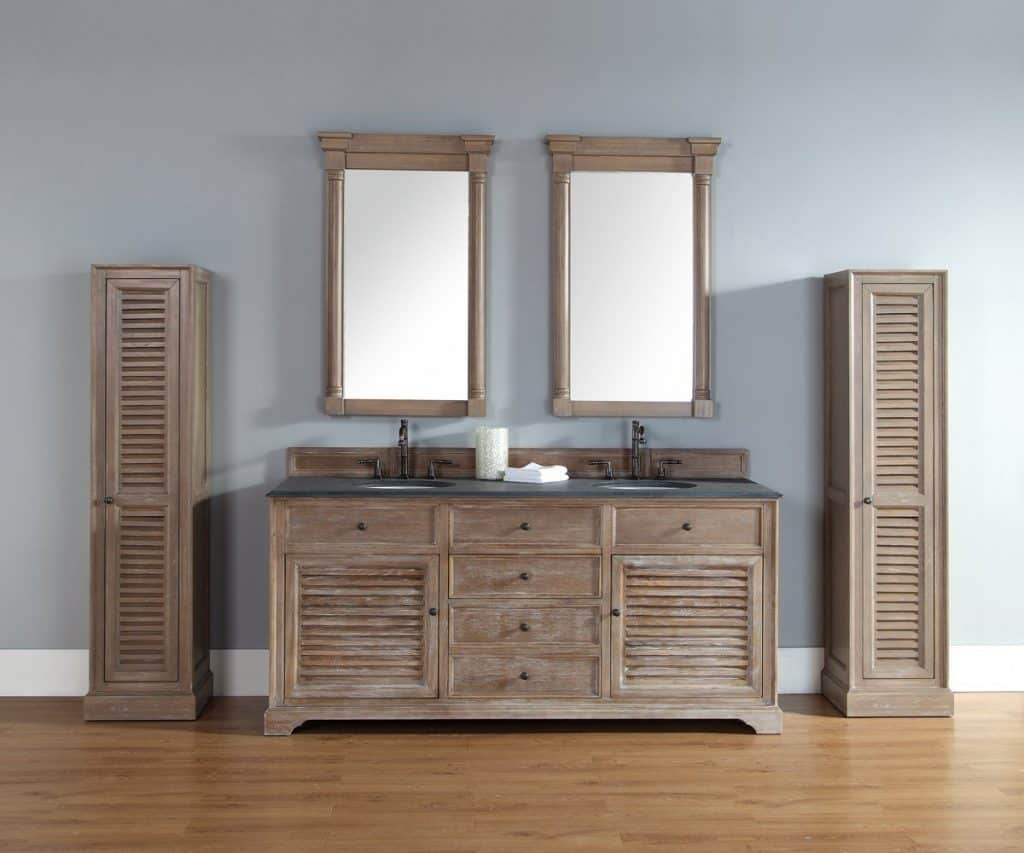 rustic double sink bathroom vanities. James Martin 238-104-5711-BLK Savannah 72 Driftwood Double Vanity With Absolute Rustic Sink Bathroom Vanities