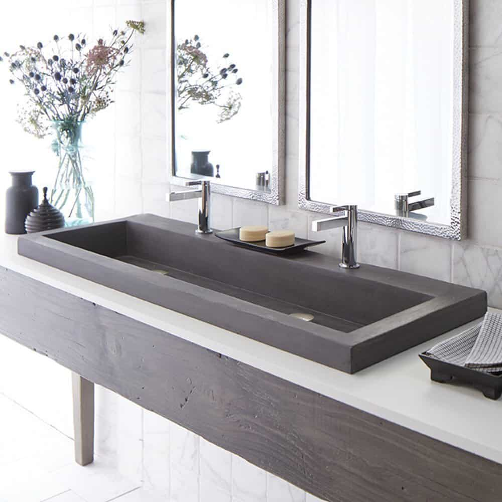 Trough Sink : ... Sink 1900271066557 Concrete Trough Bathroom Sink Trough Bathroom Sink