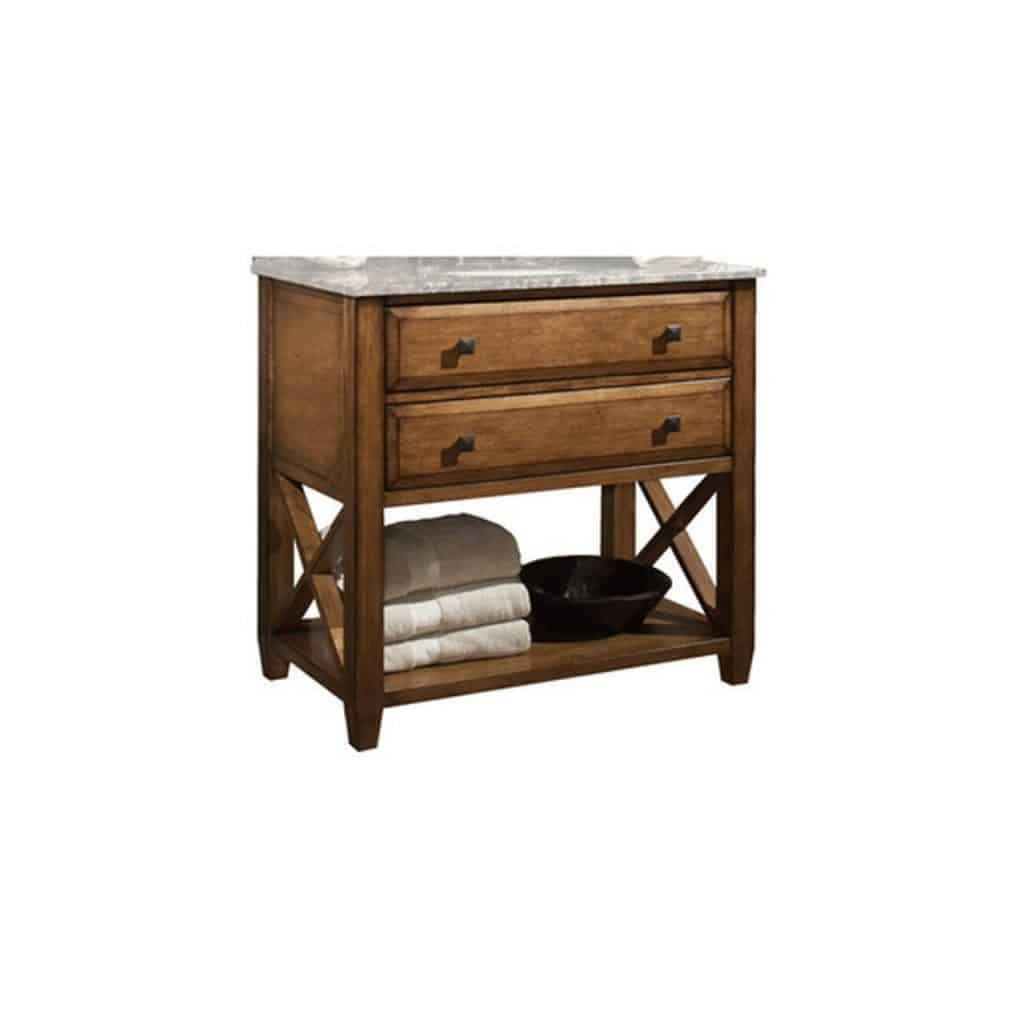 Oak or cherry is often the wood of choice for rustic style vanities - Very Cool Bathroom Vanity And Sink Ideas Lots Of Photos