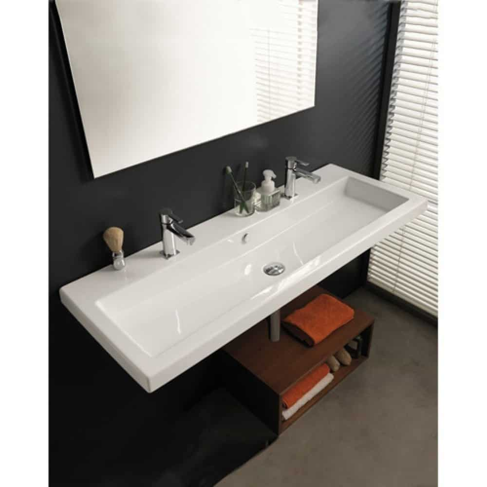 Very cool bathroom vanity and sink ideas lots of photos for Double basin bathroom sinks