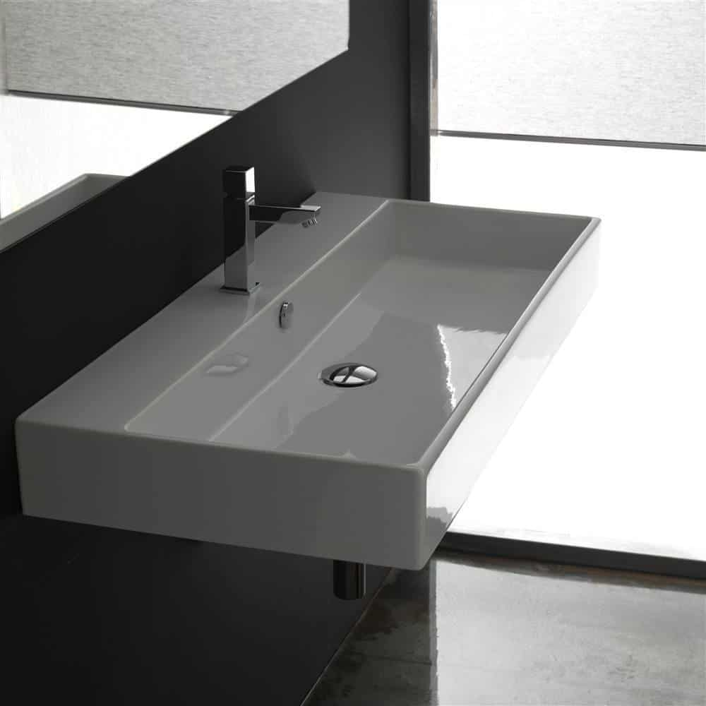 unlimited 90 wallmount or countertop bathroom sink