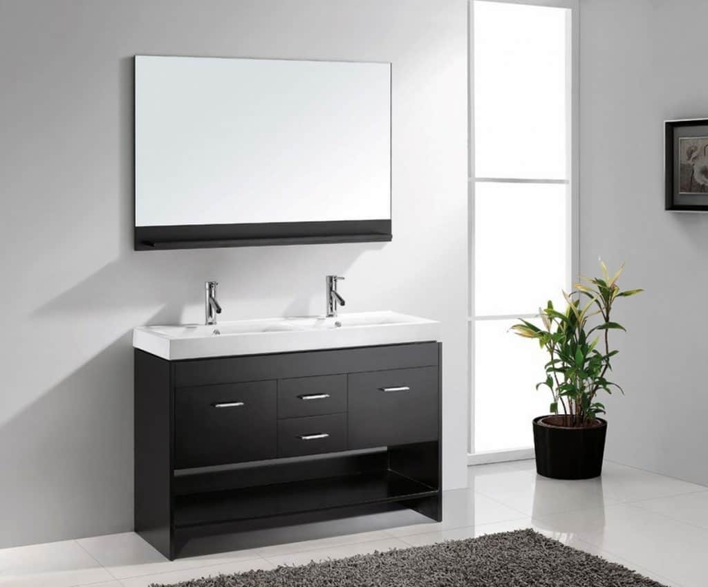 virtu usa md 423 c es gloria 47 inch double sink bathroom - Bathroom Cabinets Sink