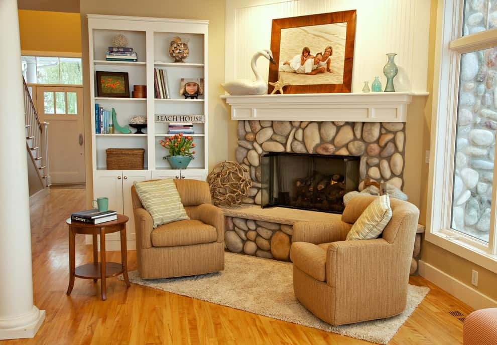 100 fireplace mantel decorating ideas with pictures for Rock home decor