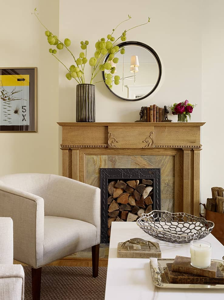 Mantel Decorating Idea - Vase