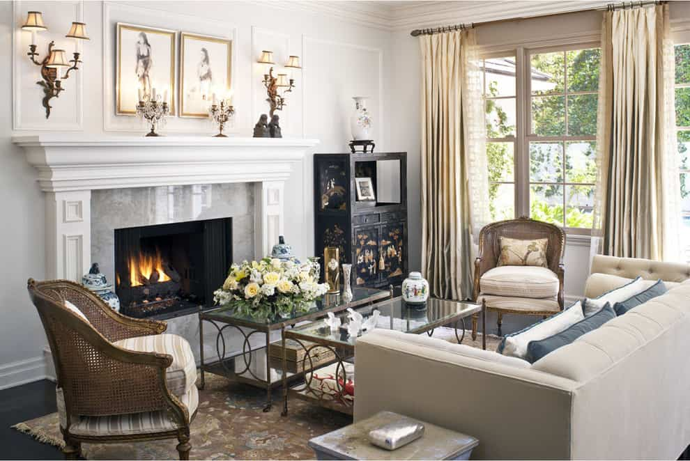 Mantel Decorating Idea - candelabras