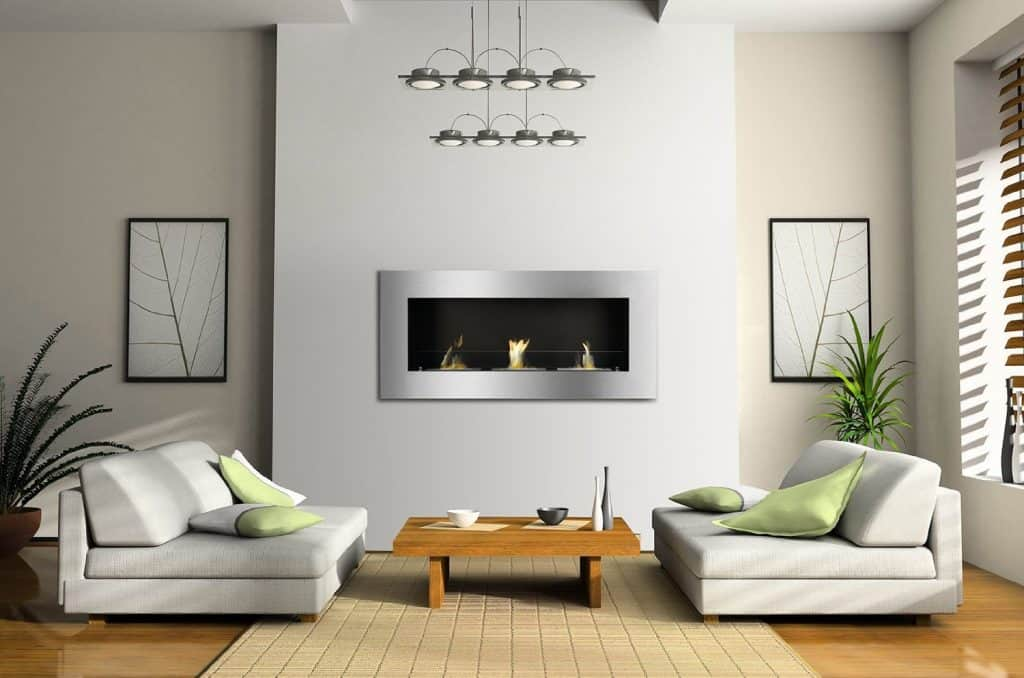 gnis Ventless Bio Ethanol Fireplace Optimum with Safety Glass