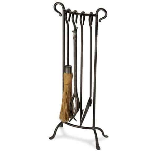 5 Pc Iron Finish Shepherds Crook Fireplace Tool Set by Fireside Distributors