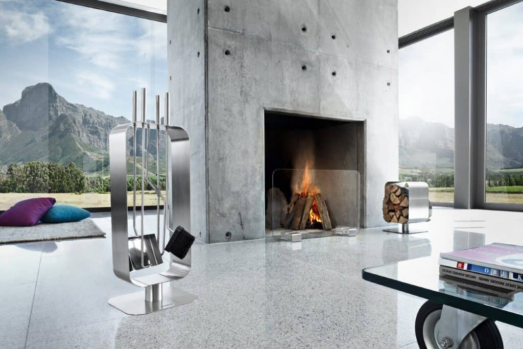 Blomus Glass Fireplace Screen