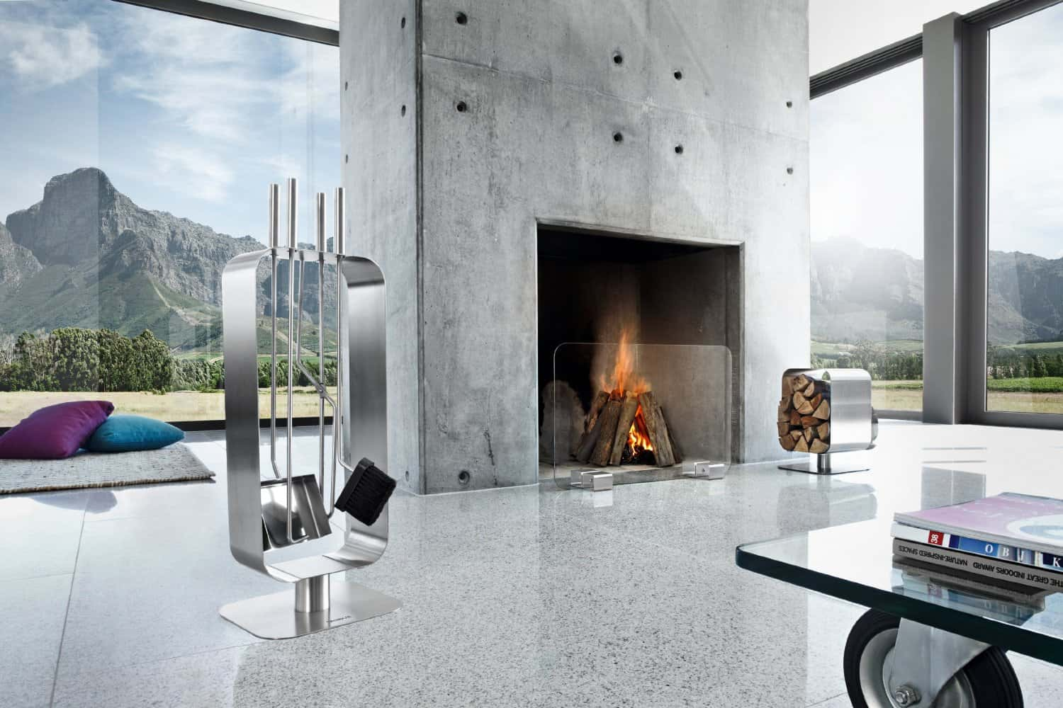 Blomus Glass Fireplace Screen - featured