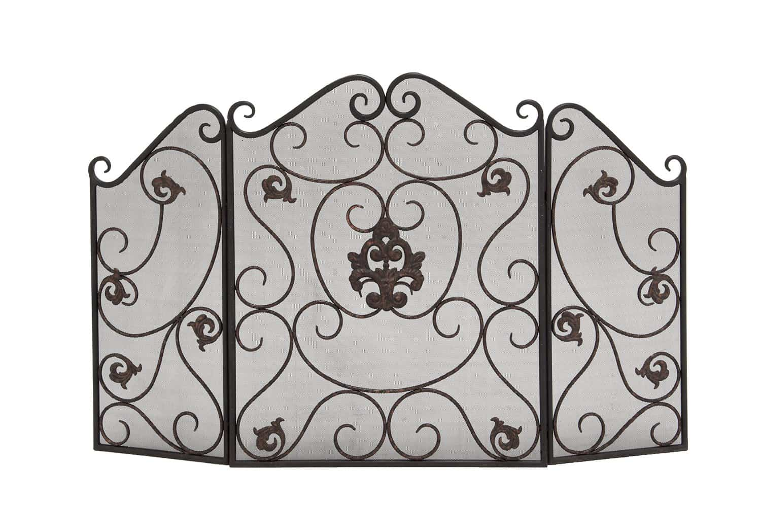 Deco 79 Metal Fire Screen