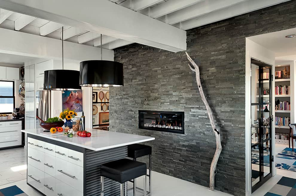 slate fireplace ideas