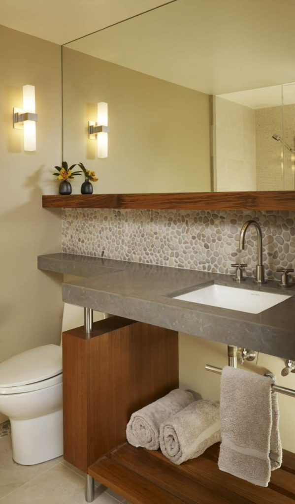 multifaceted and modern beneath the sink bathroom shelves