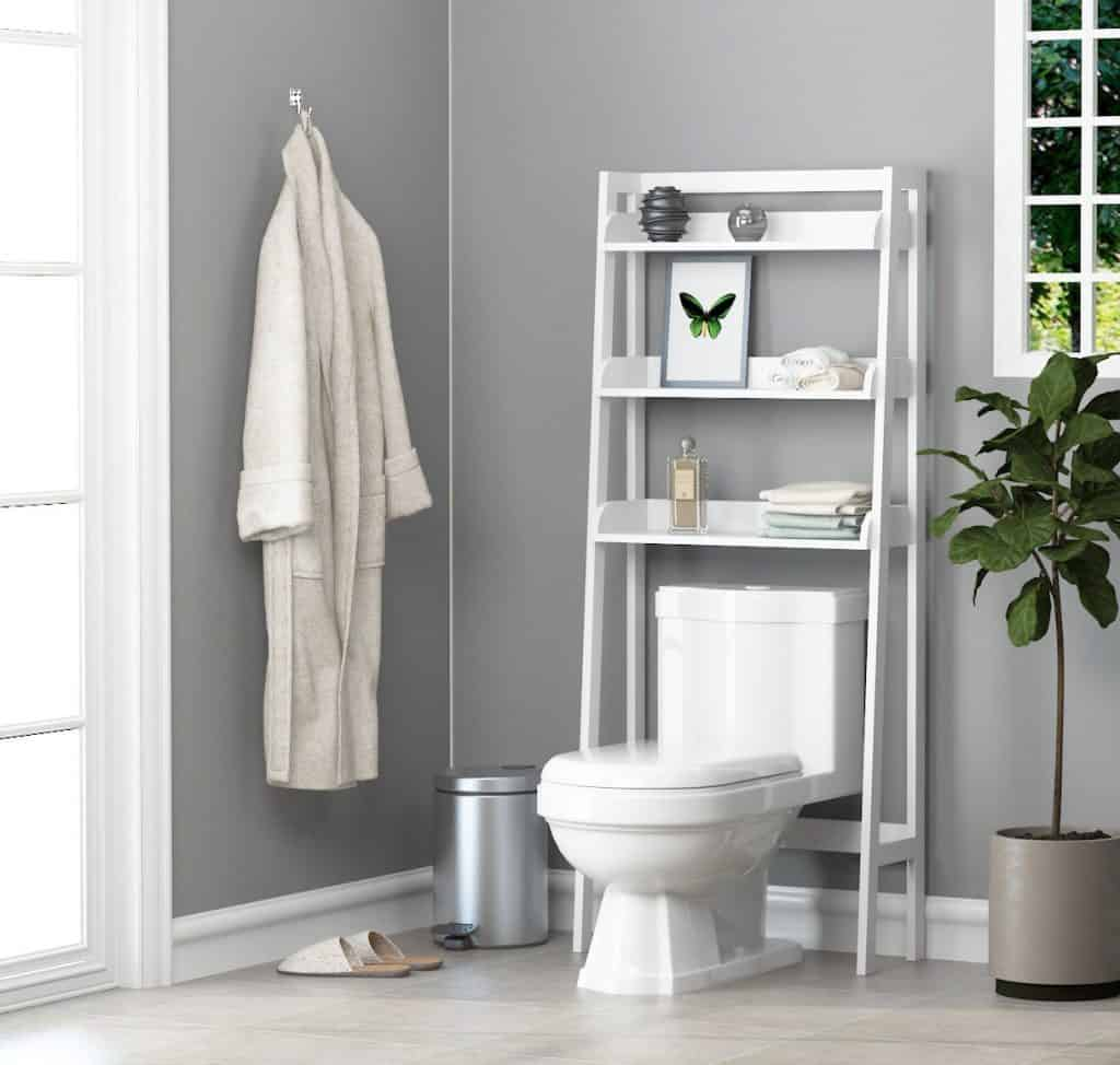 over the toilet ladder ideasbathroom shelf combination