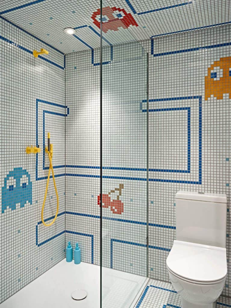 Pac-Man Kids Shower Tile