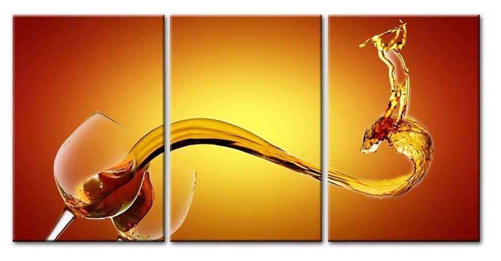 3 Pieces Panel Paintings Modern Giclee Stretched And Framed Artwork