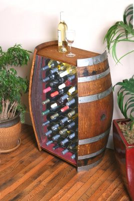 32 Bottle Wine Barrel Cabinet
