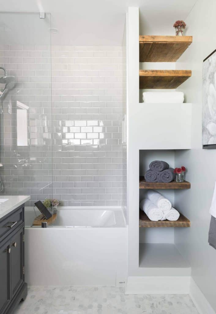 Small Shelf Areas for Towels