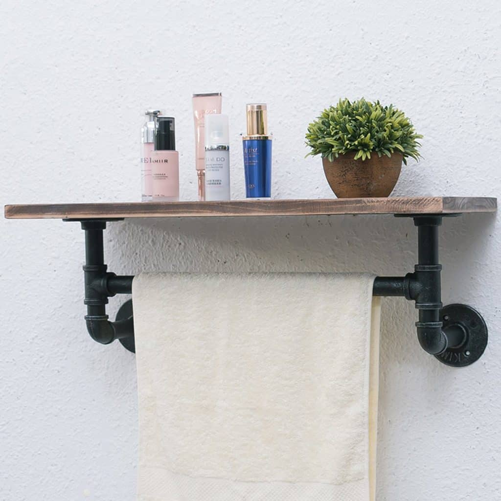 Industrial and Rustic Pipe Shelf