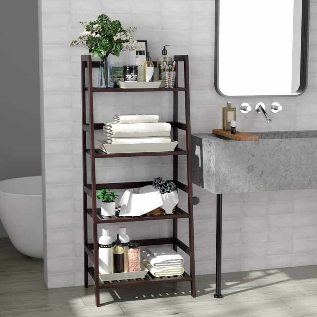 Multifunctional Ladder Shaped Planter Shelf