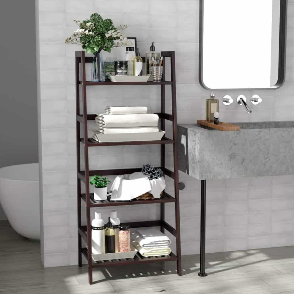 Multifunctional Ladder Shaped Planter Shelf