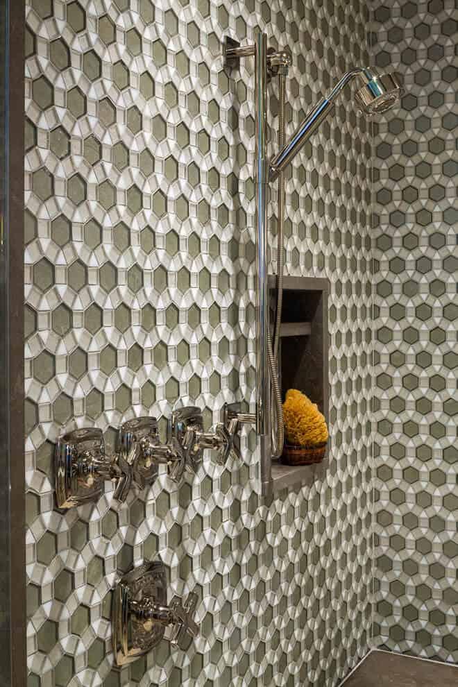 Translucent Polygonal Tile Pattern