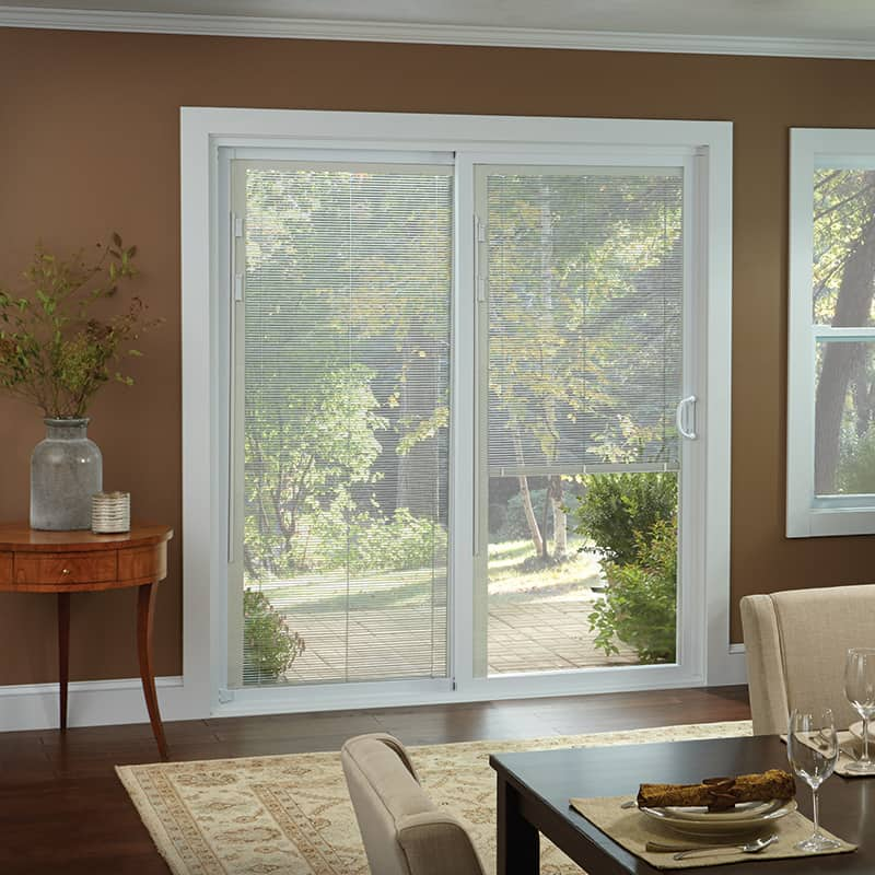 50 series gliding patio door with built in blinds - Glass For Patio Door