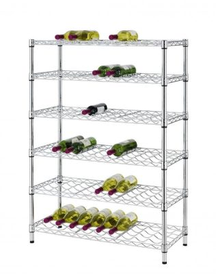 Classics 54-Bottle Chrome 6-Shelf Wine Rack Wire Shelving