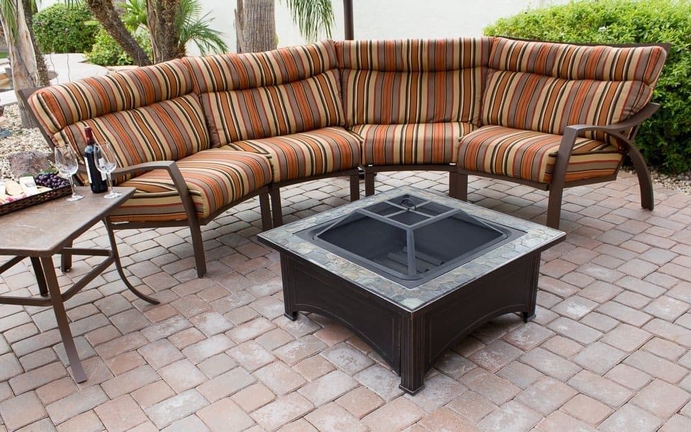 AZ Patio Heaters Fire Pit with Square Table