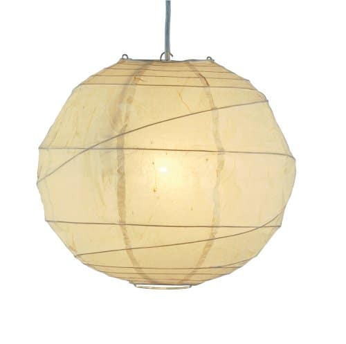 Adesso 4162-12 Orb 24 Large Pendant, Natural, Smart Outlet Compatible