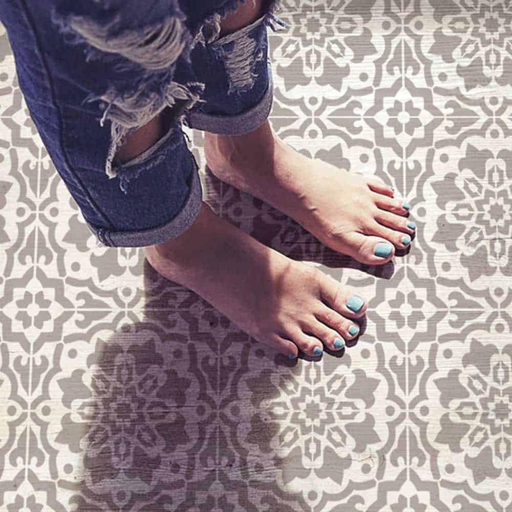 Amalfi Tile Stencil - Cement Tile Stencils - DIY Portuguese Tiles