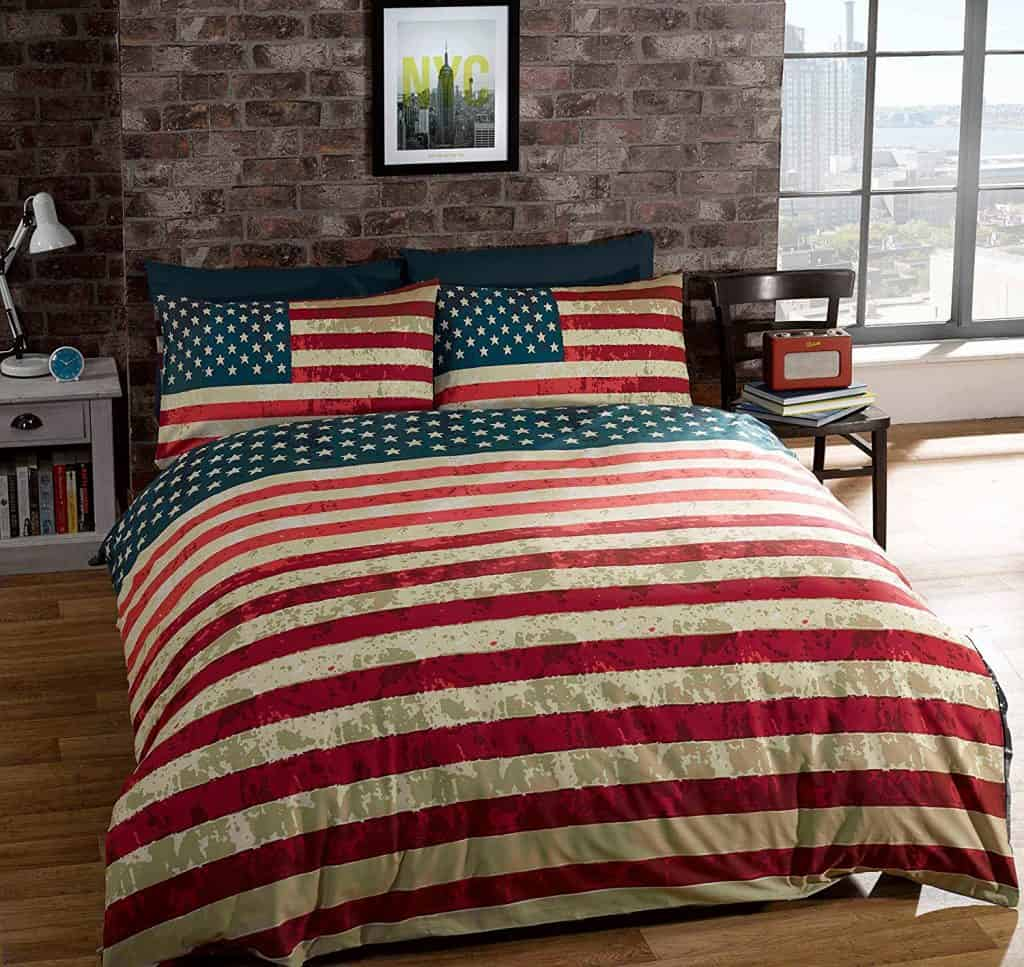American Flag reversible blanket