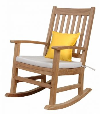 Perfect Anderson Teak Palm Beach Collection Rocking Armchair, Dimone Sequoia