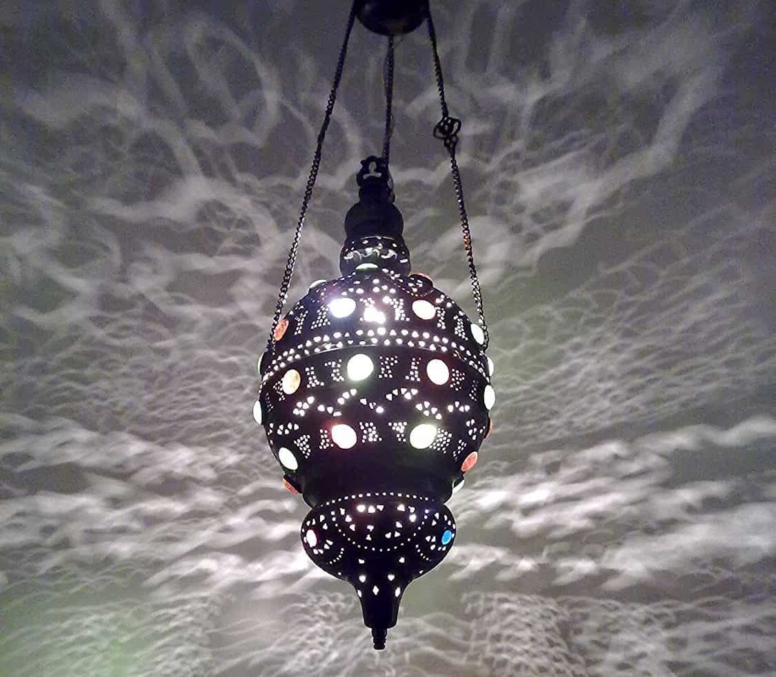 Antique Style Handmade Moroccan Brass Pendant Sphere Lamp