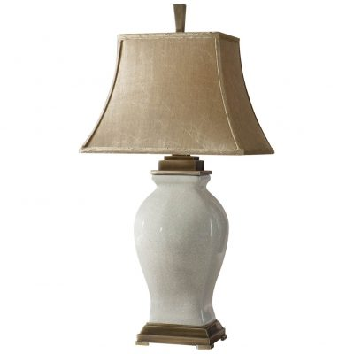 Ariella French Country Ivory Crackled Champagne Table Lamp