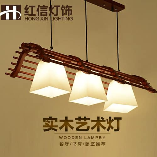 BGmdjcf Creative Modern Chandeliers Wooden Ceiling Lamps