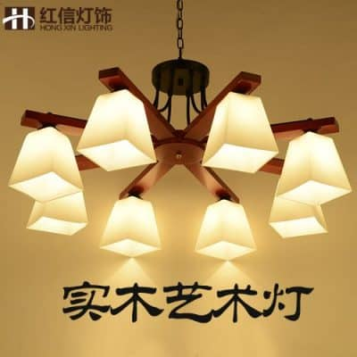 BGmdjcf Modern Chinese Wooden Ceiling Lamps